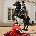 kavalír a tanečnice štvanci