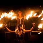 Noční ohňová show