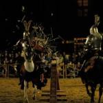 rytířský turnaj na koních